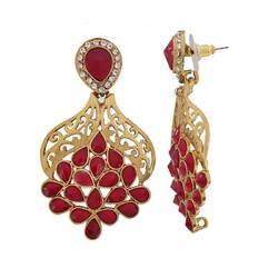 Designer Drop Gold Earrings