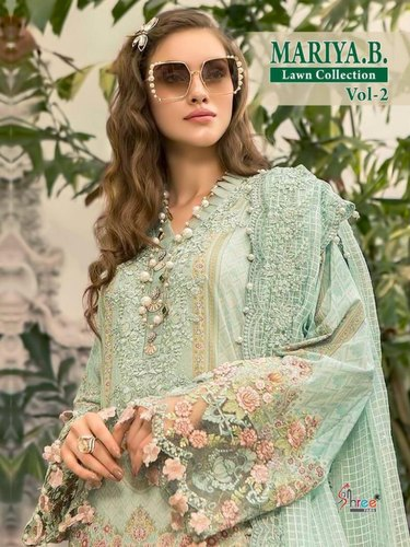 color brilliancy professional sale latest selection Shree Fabs Maria B Lawn Vol 2 Embroidery Pakistani Suits Catalog