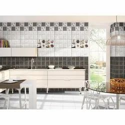 White Kitchen Wall Tiles, Packaging Type: Box, Thickness: 8 - 10 mm