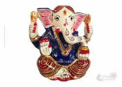 Metal Meenakari Modern Ganesha Statue God Idol Figurine