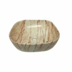 Beige Marble Table Top Wash Basin