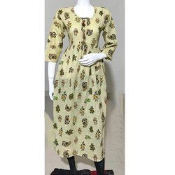 Cotton Shub Printed Anarkali Kurti
