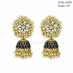 Antique Traditional Pearl Jhumka Earrings