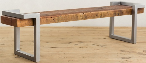 60 Inches Long And 11.25 Inches Wide Steel And Wooden Bench, Industrial  Furniture