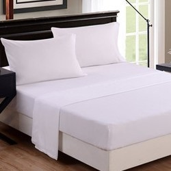 Pure White Deluxe Bed Sheet U0026 Pillow Cover   Custom Size