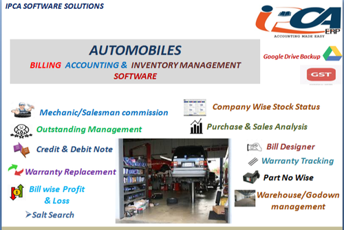Automobiles Billing And Accounting Software