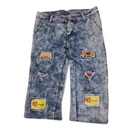 Regular Mens Printed Denim Jeans, Waist Size: 28-40 Inch