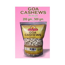 Raw White Premium Cashew Nuts, Packaging Size: 200 Gram,500 Gram (Available), Grade: W240
