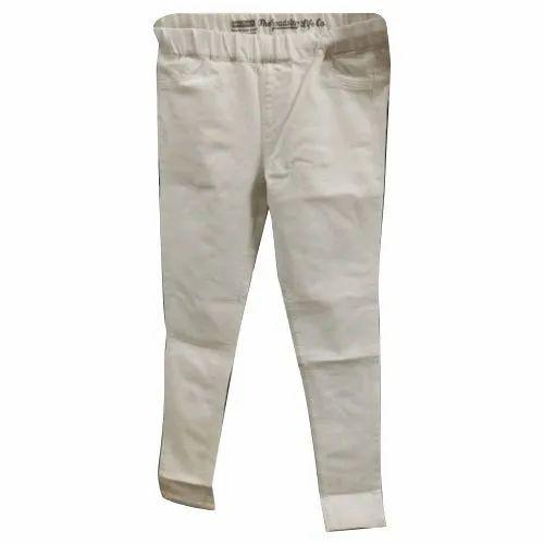 Warthog Ladies White Denim Jeans, Waist Size: 26-36