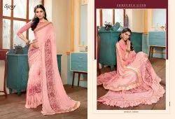 Pink Color Fancy Designer Wear Sarees