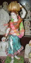 Marble Rajasthani Lady Statue