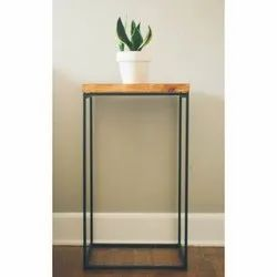 Eazy Fab Wooden Plant Stand Side Table, for Home