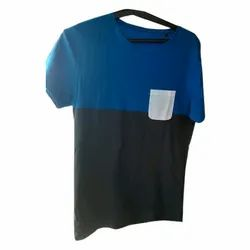 Round Mens Half Sleeves Casual Wear T-Shirt