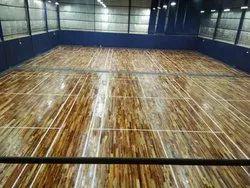 Indoor AFRICAN TEAK Teak Wood Badminton Court Flooring, Jaipur
