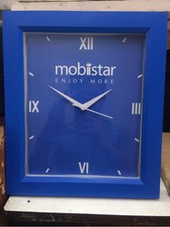 Blue Table Mounted Promotional Clock
