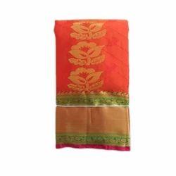 Wedding Wear Designer Pure Silk Saree, 6 M with Blouse Piece