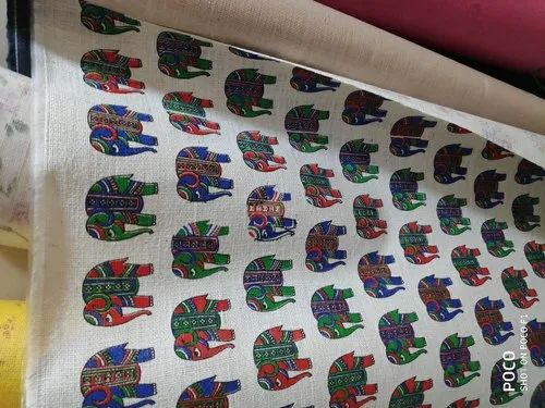 Casual And Formal Red Blue And Green Printed Fabric Cloth For