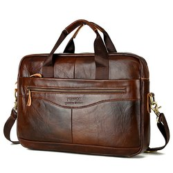 Dark Brown Mens Leather Bag, For Personal