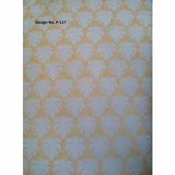 P117 Non Woven Metallic Printed Fabric