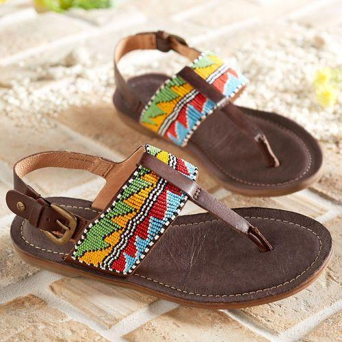 12f64e4d905aa Maasai Beaded Leather Sandals - Beaded Sandals Manufacturer from ...