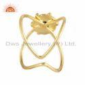 Peridot Gemstone Gold Plated 925 Silver Handmade Design Rings Jewelry