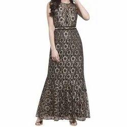 Party Wear Sleeveless Ladies Long One Piece Dress