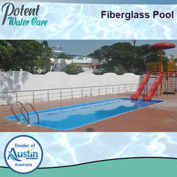Blue FRP Fibre Glass Pool, for Hotels/Resorts