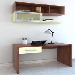Brown Wooden Study Cabinet, Polished