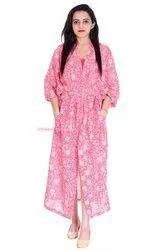 Anokhi Cotton Kimono Bath Robe