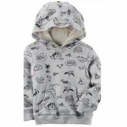 Polyester Boys Hooded Jacket