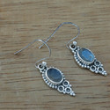 925 Sterling Silver Labradorite Gemstone Royal Earrings