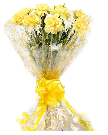 Floweringo 12 Yellow Carnation Bouquet At Rs 650 Piece Flower