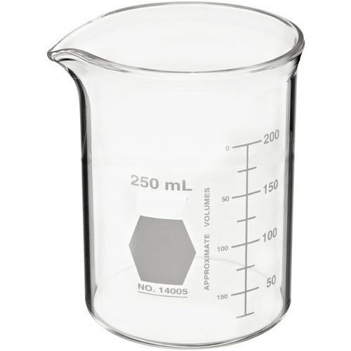 250ml glass beaker at rs 264 box क च क ज र ankit