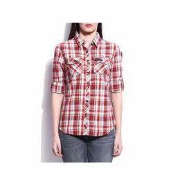 MV Fashion Checks Ladies Casual Cotton Shirt