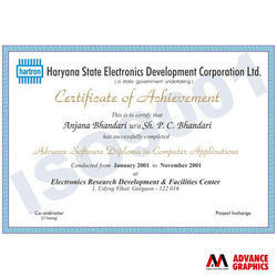 Training Certificate Printing Services