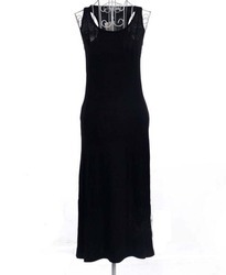 Black Basic Sleeveless Maxi Dress