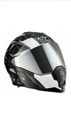 Vega Storm Drift Black Silver Helmet-L