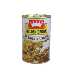 Golden Crown 400 gm Sarson Ka Sag, Packaging Type: Tin