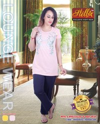 Yellow, Bawa Stella Ladies Night Suit, Packaging Type: Pouch Pack