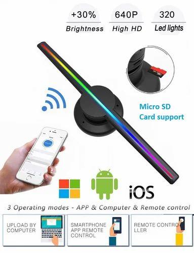 Ovibo 3d Hologram Led Display Fan 42 Cm Wifi App Control