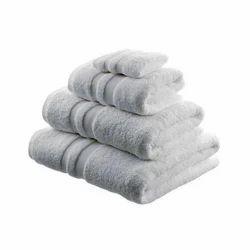 Plain White Cotton Towels
