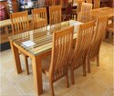 Zula House Natural Wooden Dining Table For And Restaurant