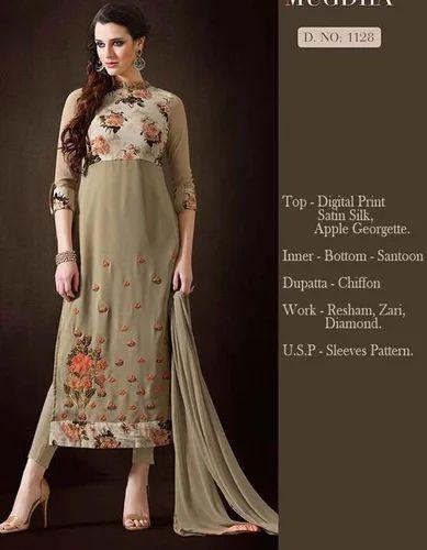 ab0eb7099b90b Georgette Party Wear Designer Suit Dress Material, Rs 1195 /piece ...