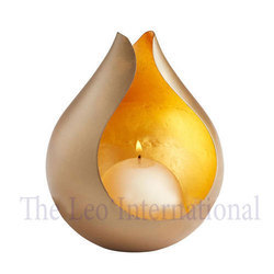 Decorative Metal Candle Votive Holder Golden color