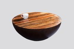 Rectangular Modern Round Antique Coffee Table, Size: 68x68x31 cm, for Restaurant