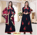 Women Cotton Embroidered Suits, Size: M