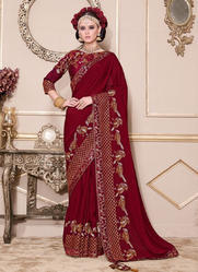 Wedding Wear Designer Saree At Wholesale Price