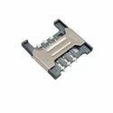 Sim Card Holder 6 Pin Slide Type With Metal Bridge
