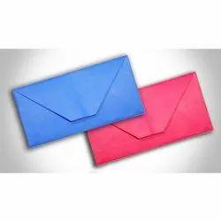 Pink, Blue Plain Paper Envelope, Rectangular, Packaging Type: Packet