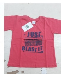 Cotton Round Kids Casual Wear Printed T Shirt, Size: 16-36